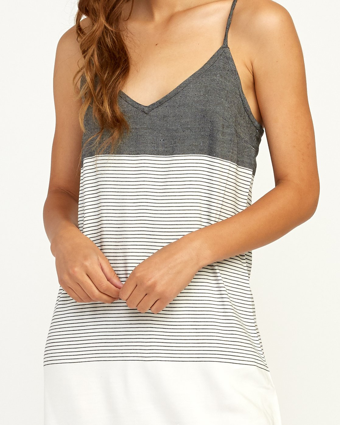 3 Odyssey Striped Tank Dress Black WD15TROD RVCA