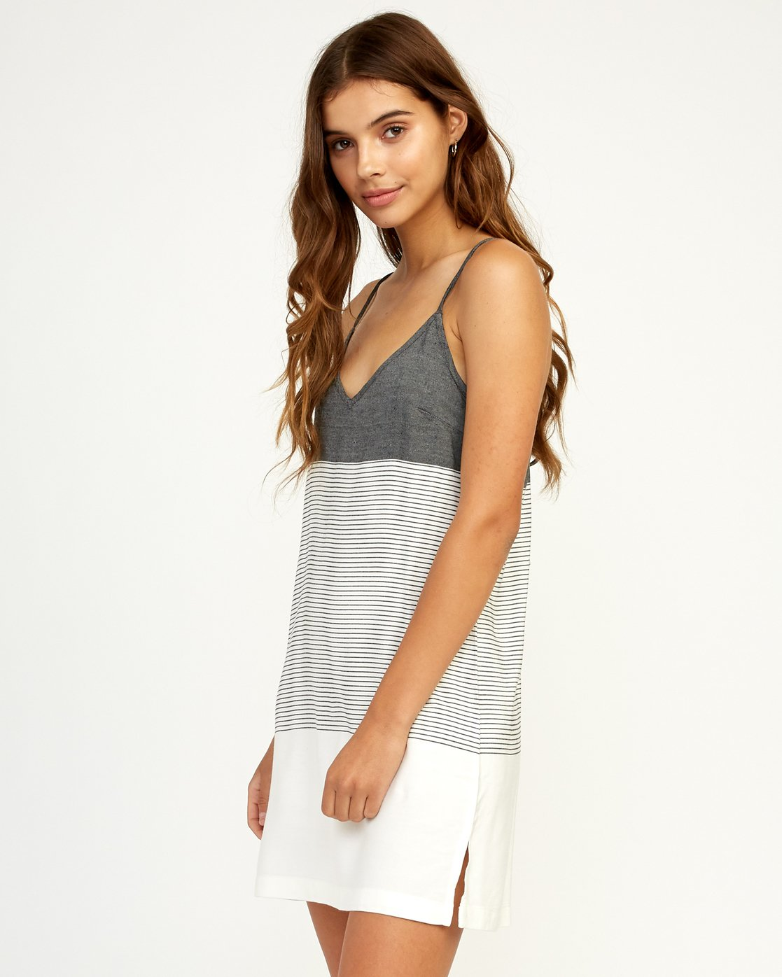 1 Odyssey Striped Tank Dress Black WD15TROD RVCA