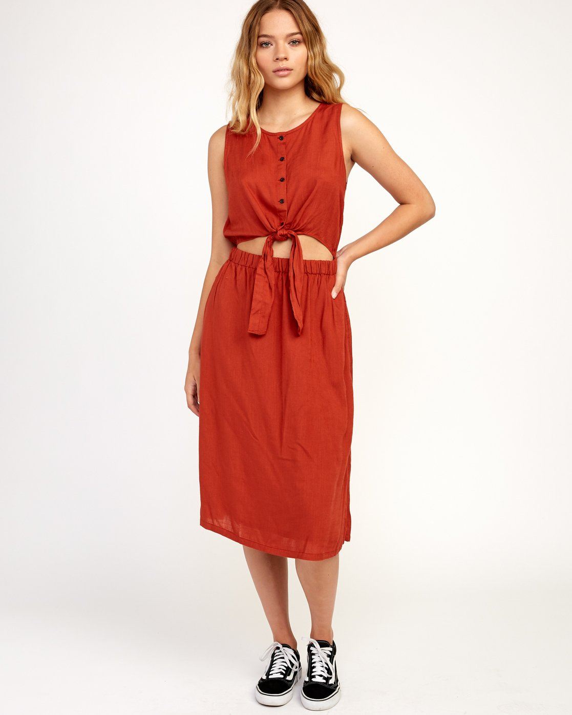 6 Arizona Woven Midi Dress  WD16TRAR RVCA