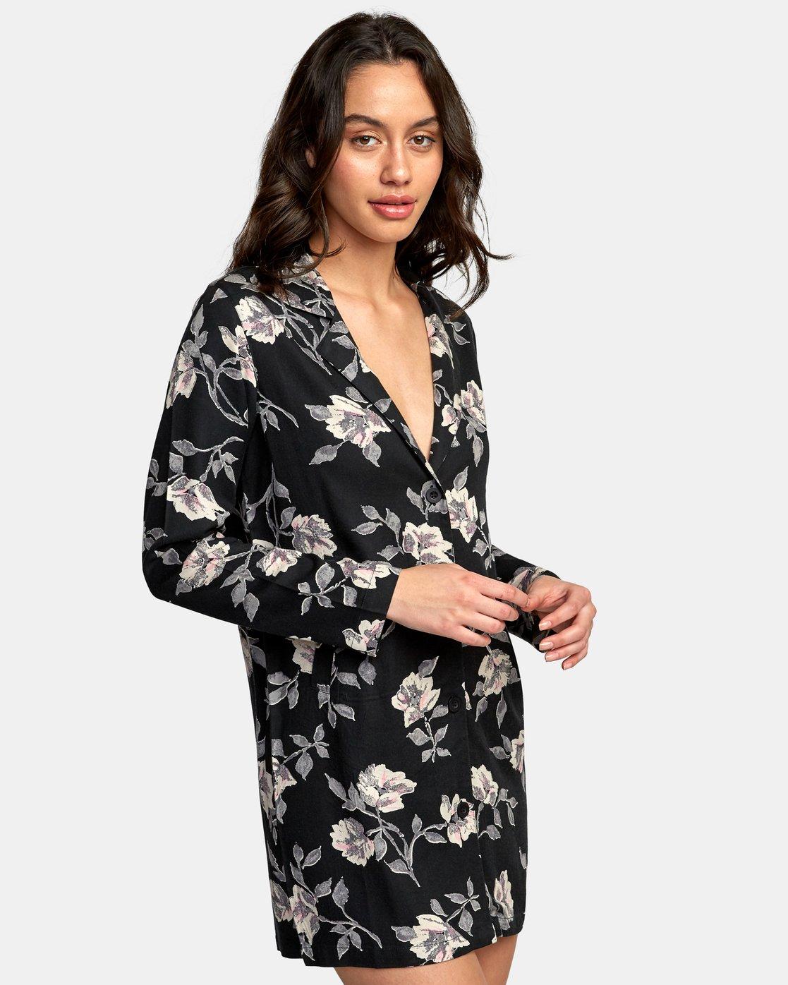 1 Downer Blazer Dress Black WD16WRDO RVCA