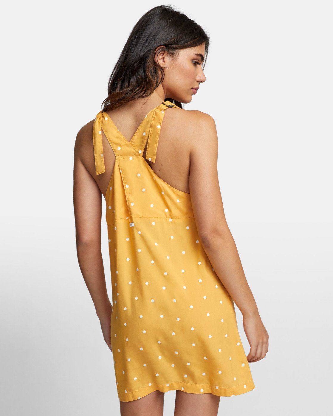 4 BOUNDARY DOT TANK DRESS Yellow WD171RBD RVCA