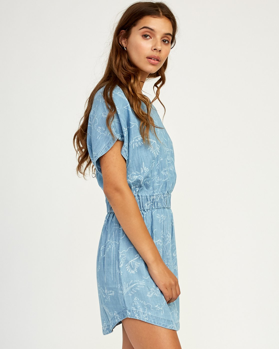 2 Nothing Left Printed Chambray Dress Blue WD17TRNL RVCA