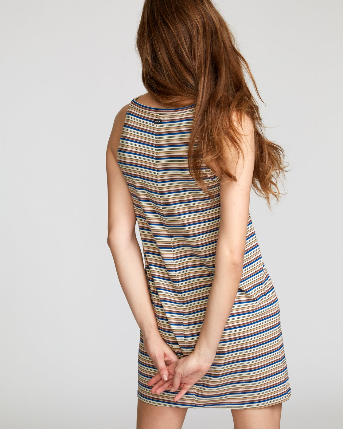 3 Bailey Striped Knit Dress Brown WD17VRBS RVCA