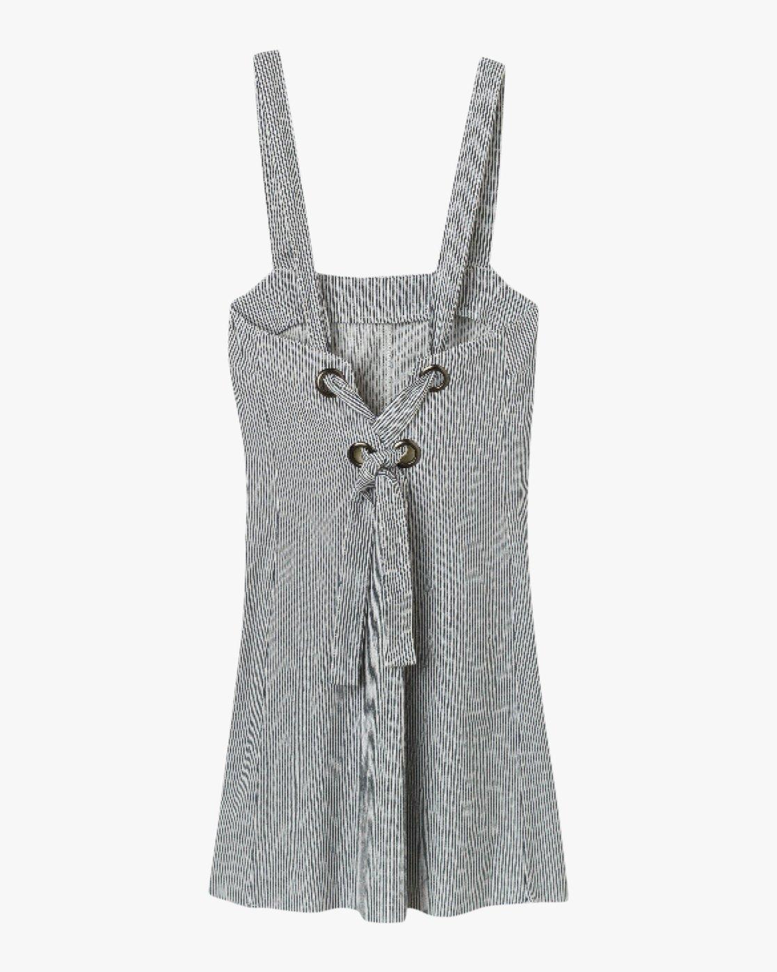 5 Tide Shift Striped Dress Silver WD18QRTI RVCA
