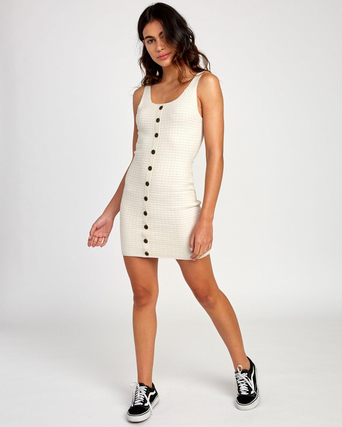 5 Delaila Knit Tank Dress Beige WD18VRDE RVCA