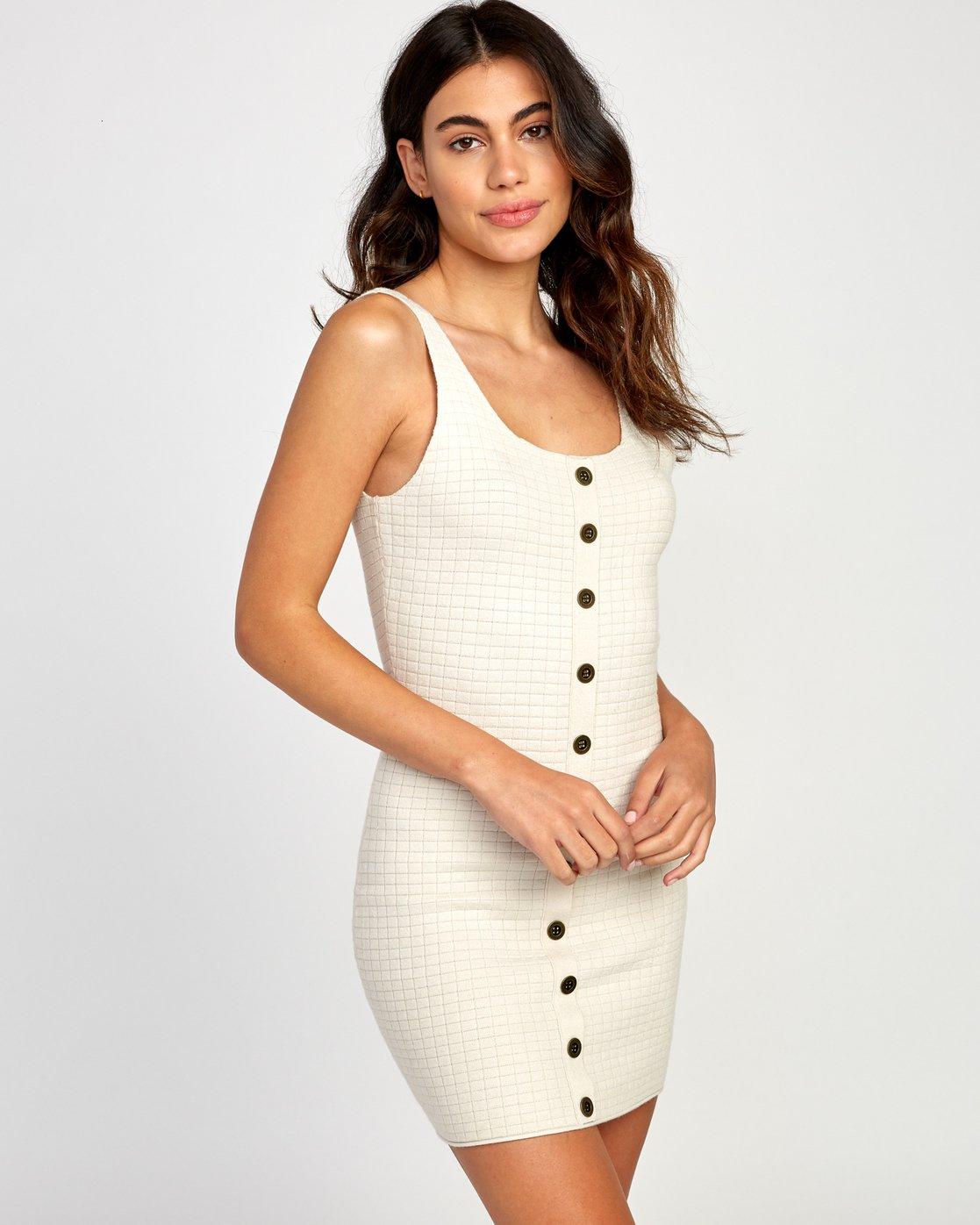 0 Delaila Knit Tank Dress Beige WD18VRDE RVCA