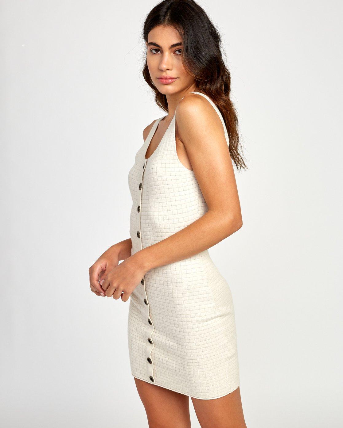 2 Delaila Knit Tank Dress Beige WD18VRDE RVCA