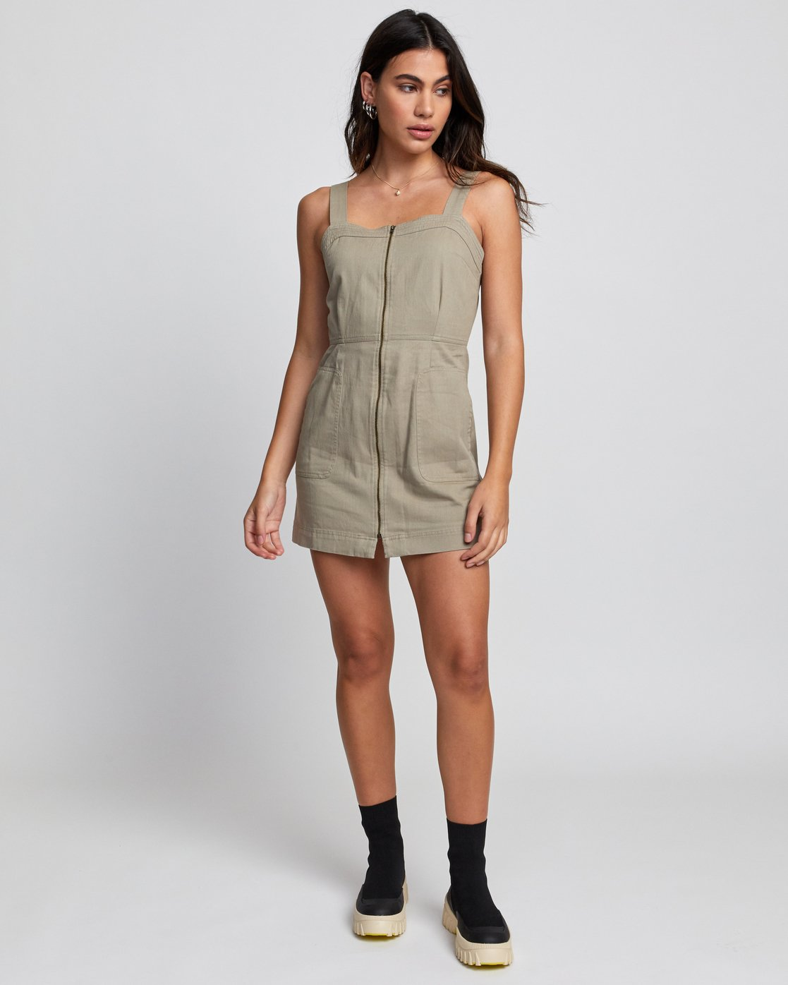 1 EMERY DRESS Brown WD193RES RVCA
