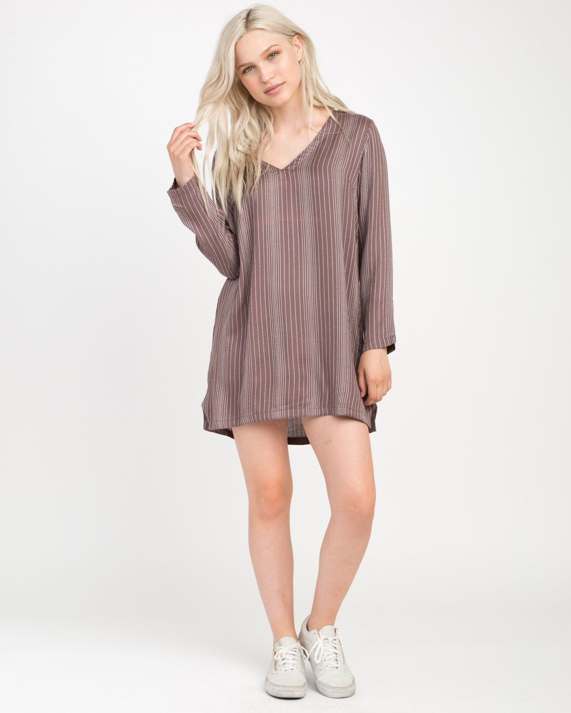 3 Foxy Lady Striped Shirt Dress  WD20NRFO RVCA