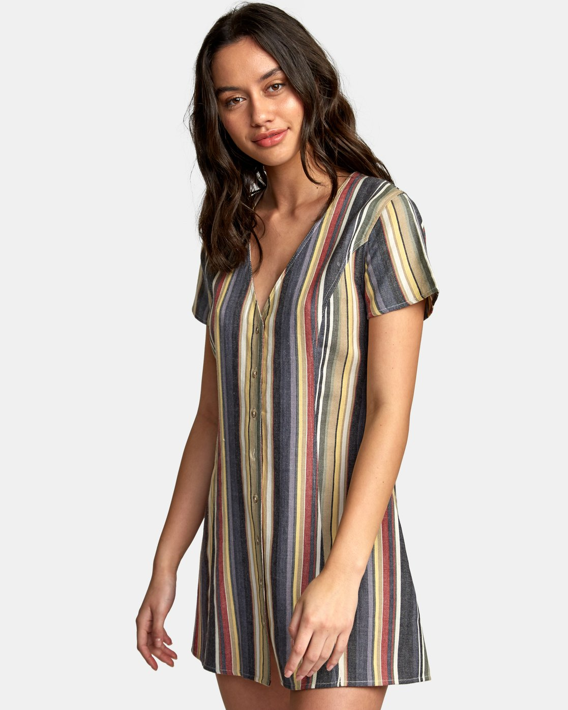 1 Guilt Button-Up Dress Black WD20WRGU RVCA