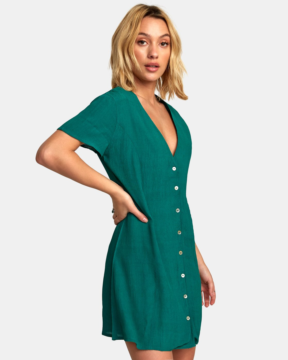 1 Guilt Button-Up Dress Green WD20WRGU RVCA