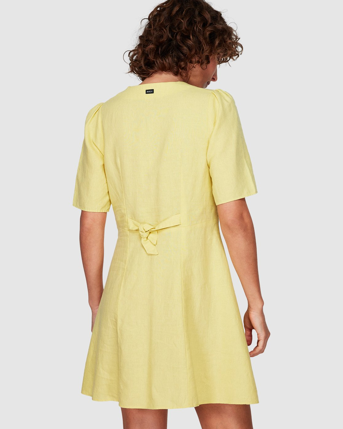2 Lemon Crane Dress Yellow WD82WRLC RVCA