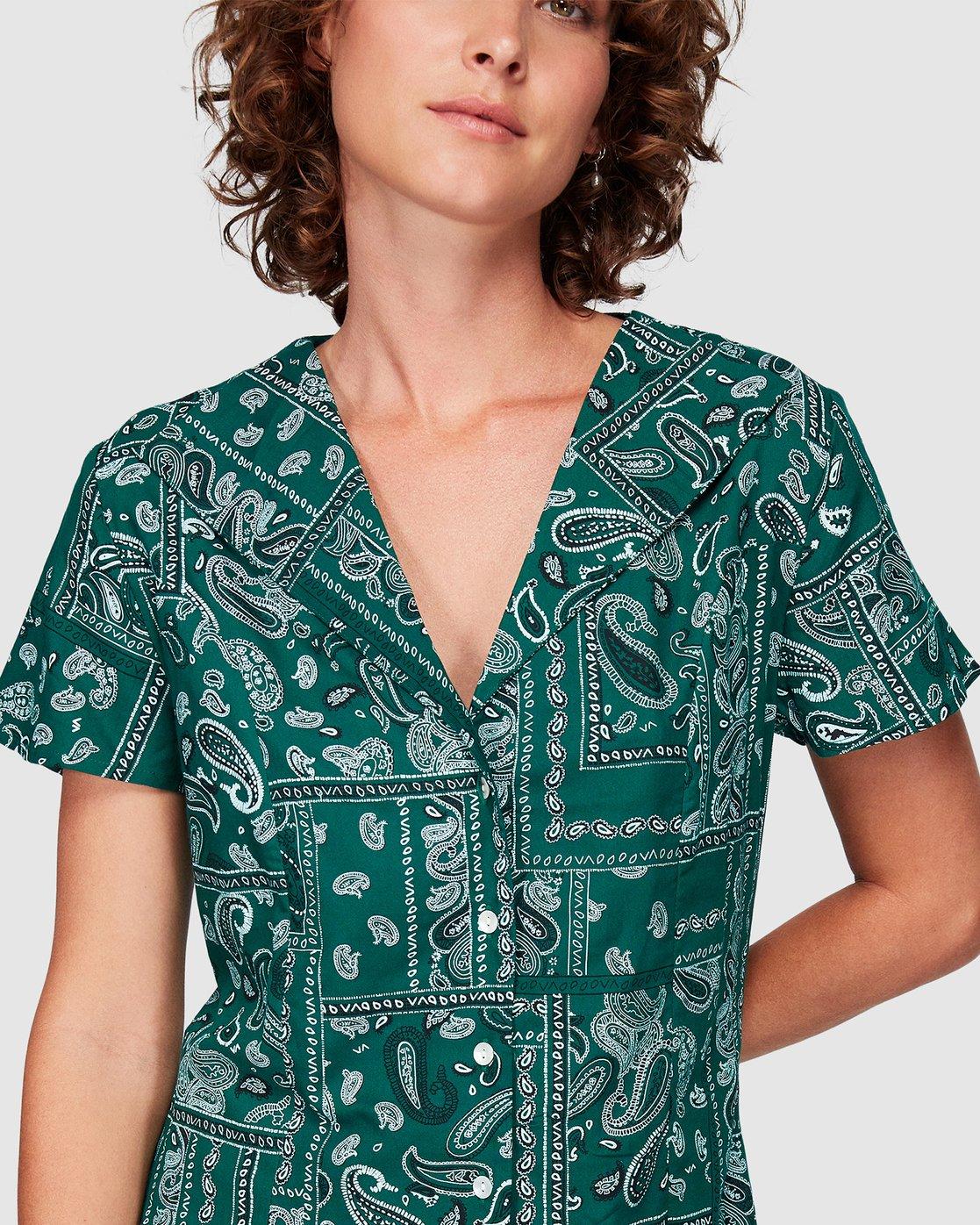 3 Farren Dress Green WD83WRFA RVCA