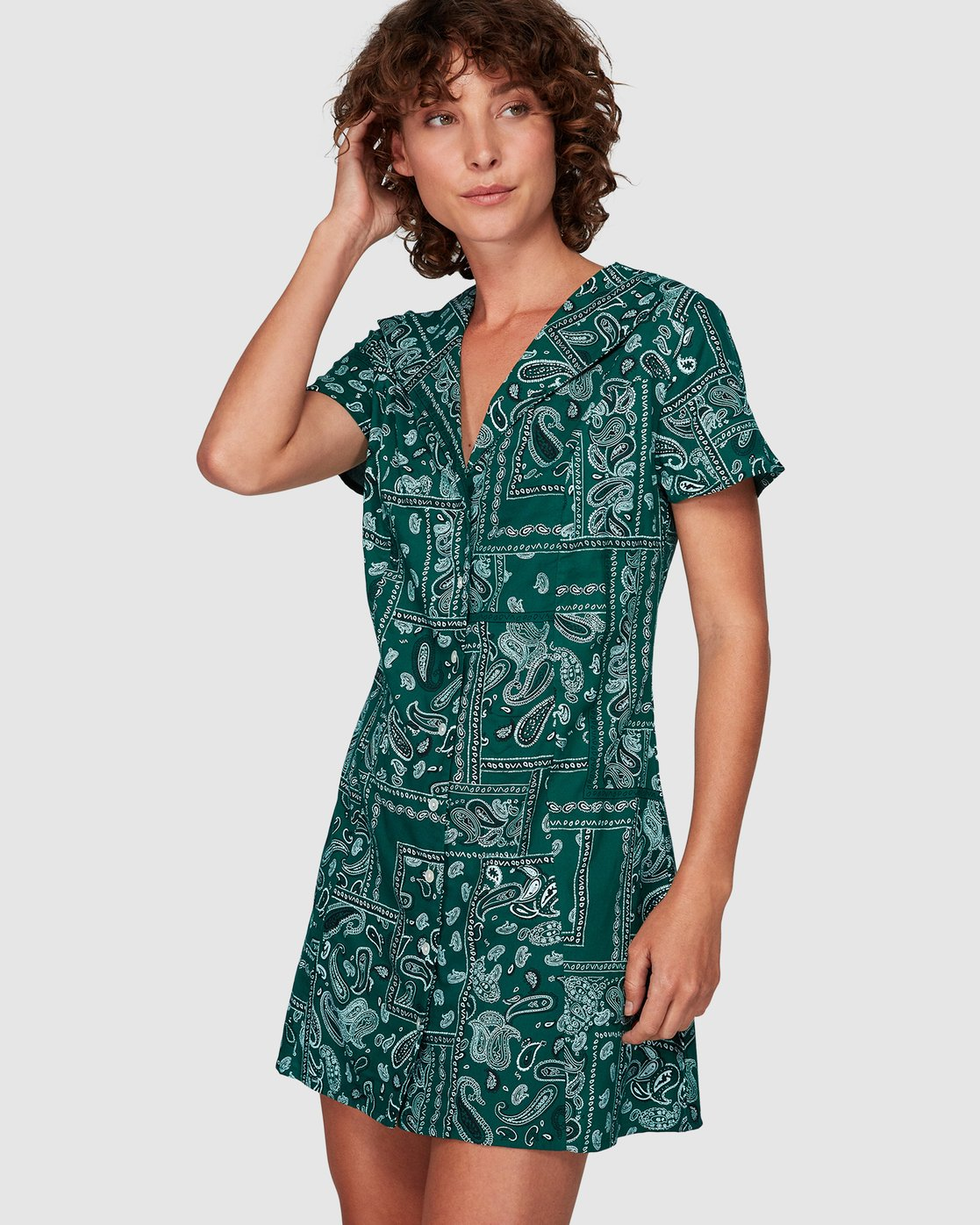 0 Farren Dress Green WD83WRFA RVCA