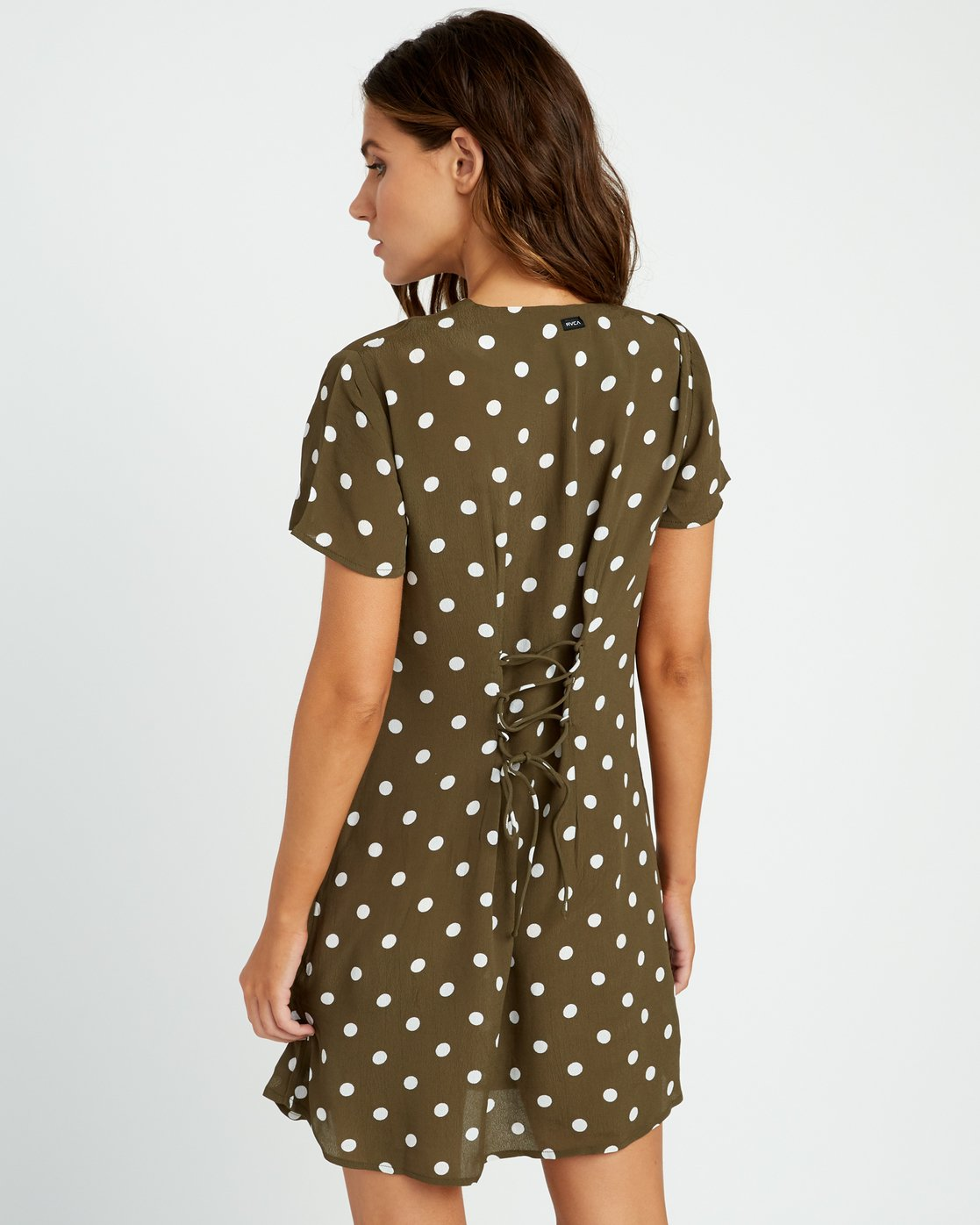 4 Benji Button-Up Dress Green WD90TRBD RVCA