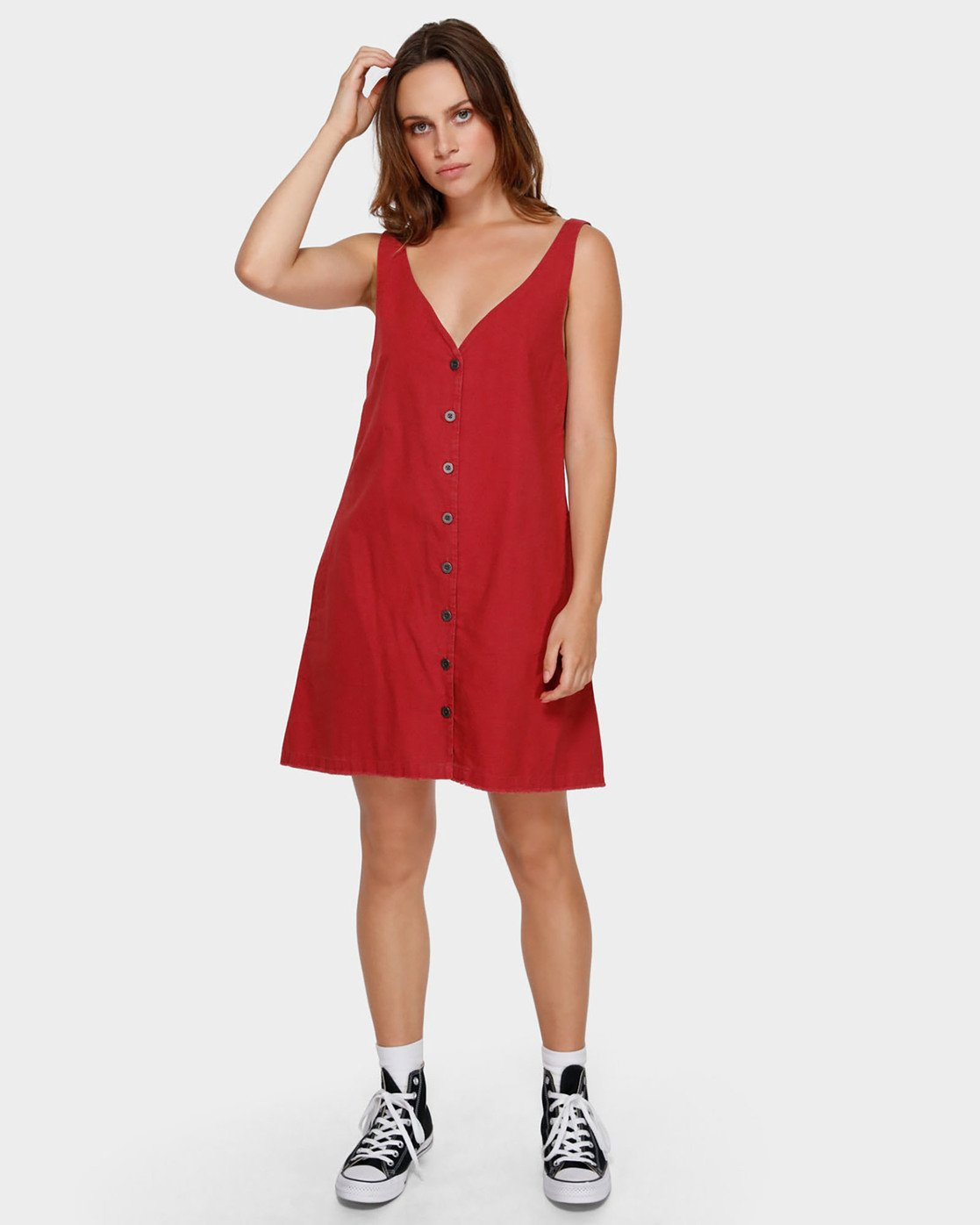 3 Shout Out Dress Red WD91VRSO RVCA