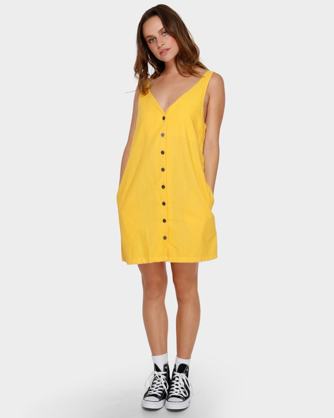3 Shout Out Dress Yellow WD91VRSO RVCA