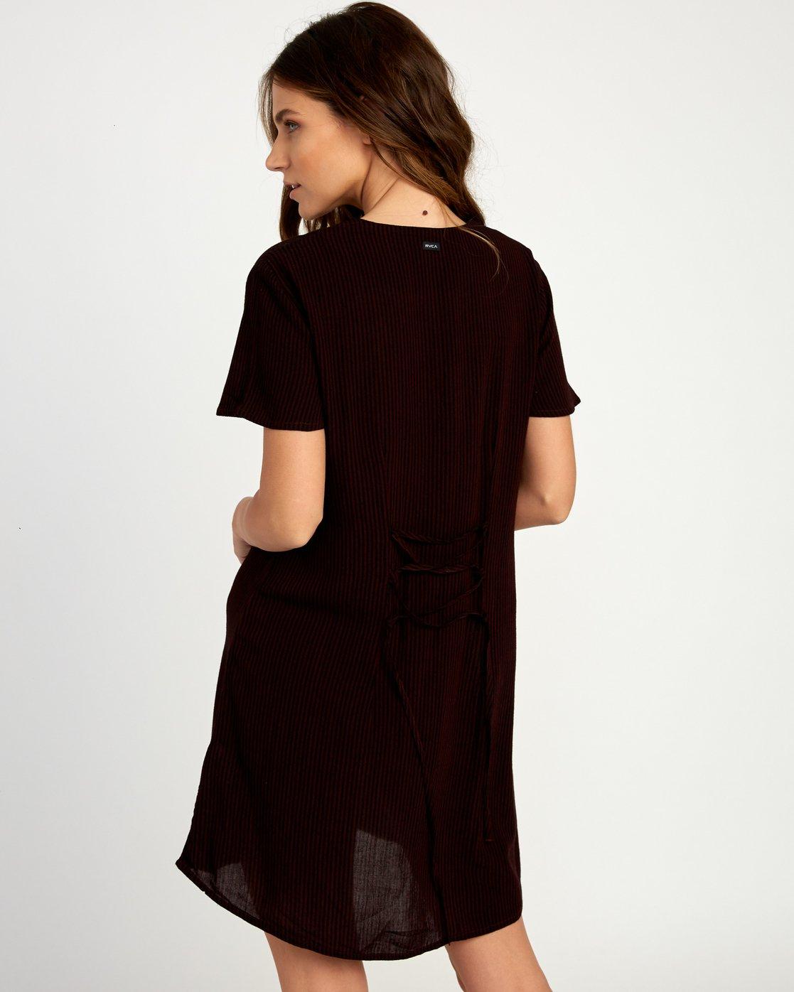 2 Benji Button-Up Dress Brown WD95TRBD RVCA
