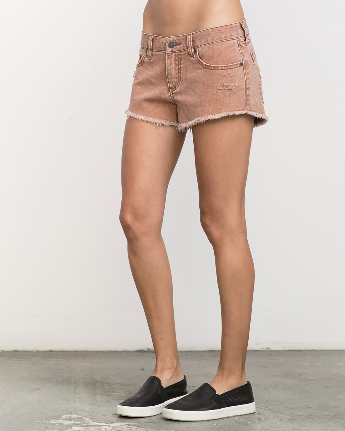 1 Hello Mellow Denim Cutoff Shorts Orange WF206HEL RVCA