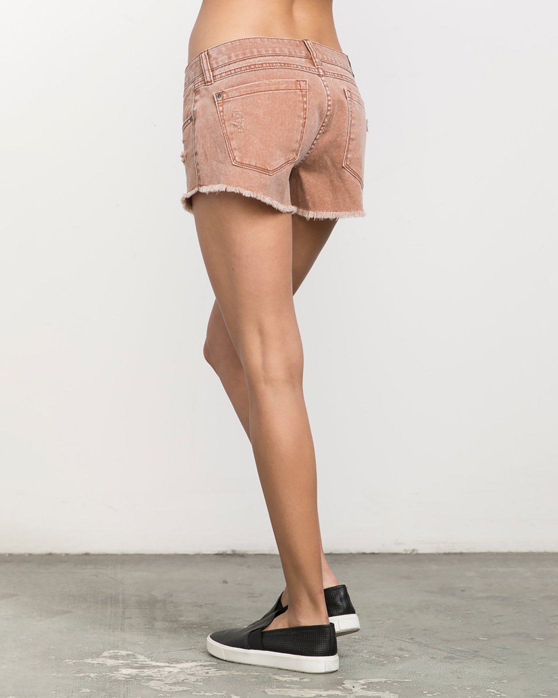 2 Hello Mellow Denim Cutoff Shorts Orange WF206HEL RVCA