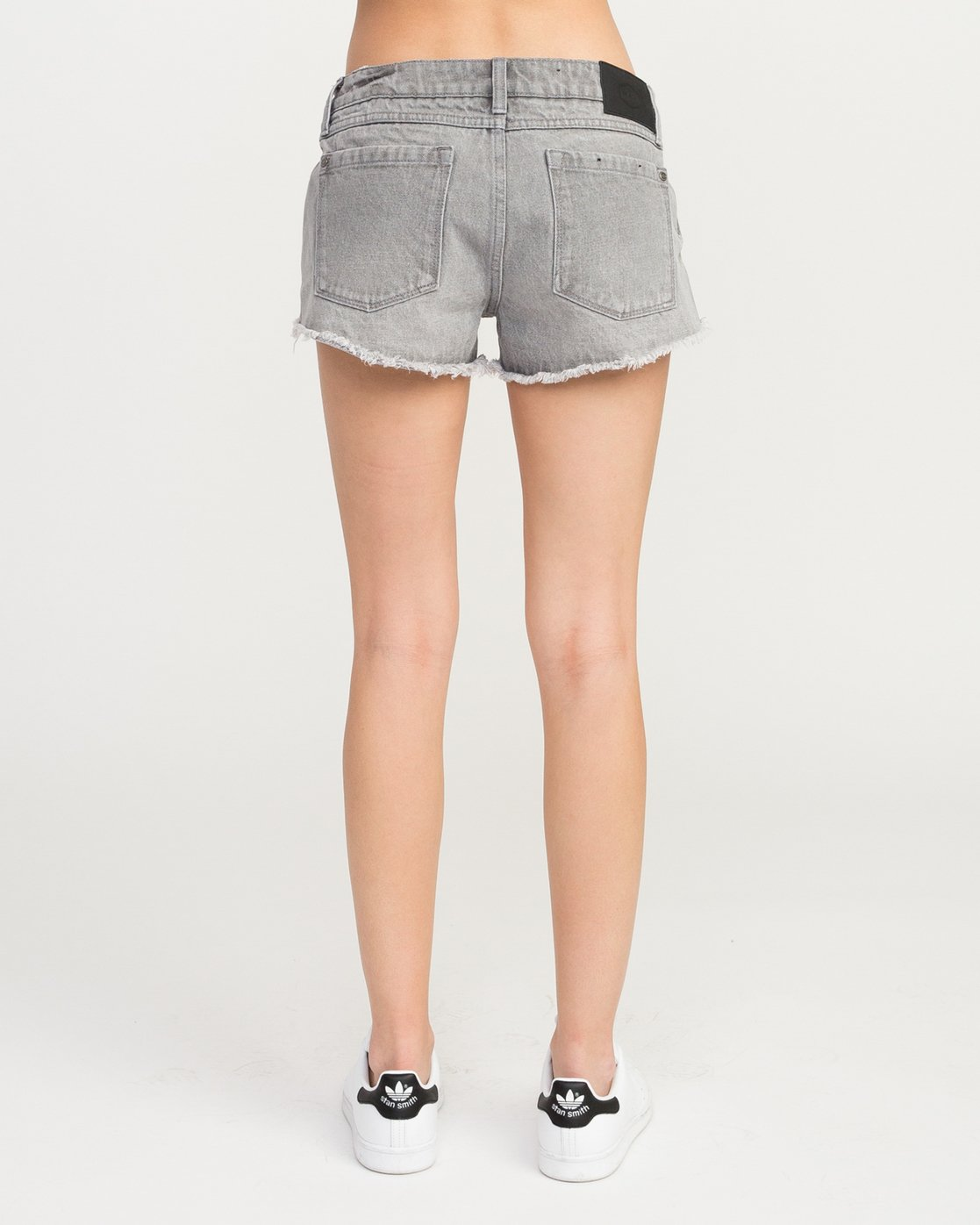 2 Hello Mellow Denim Cutoff Shorts Grey WF206HEL RVCA