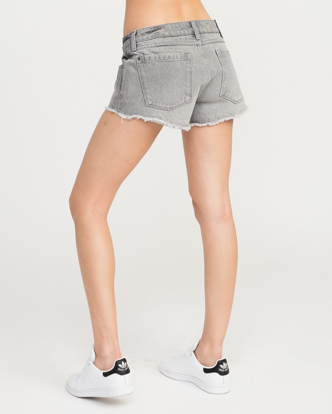 1 Hello Mellow Denim Cutoff Shorts Grey WF206HEL RVCA