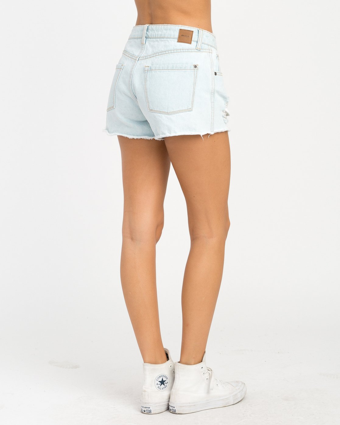 4 The BF Denim Shorts Blue WG201THE RVCA
