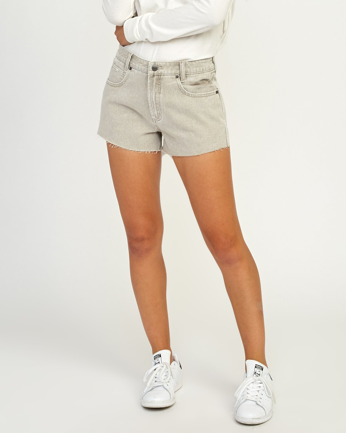 0 The BF Denim Shorts Beige WG201THE RVCA