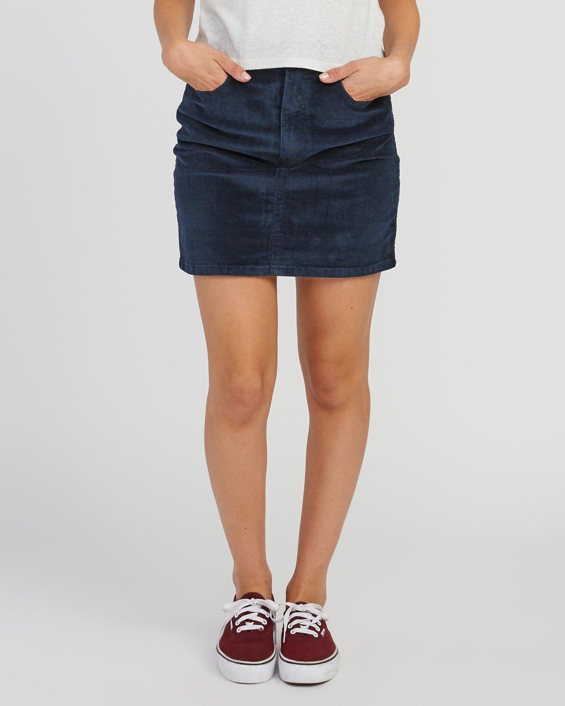 6e7bd1efd2 0 Molly Corduroy Mini Skirt Grey WK01SRMO RVCA