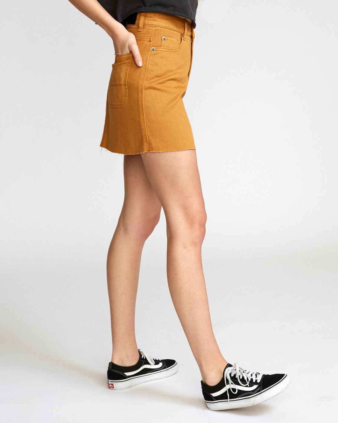 3 Rowdy Denim Mini Skirt Brown WK01VRRM RVCA