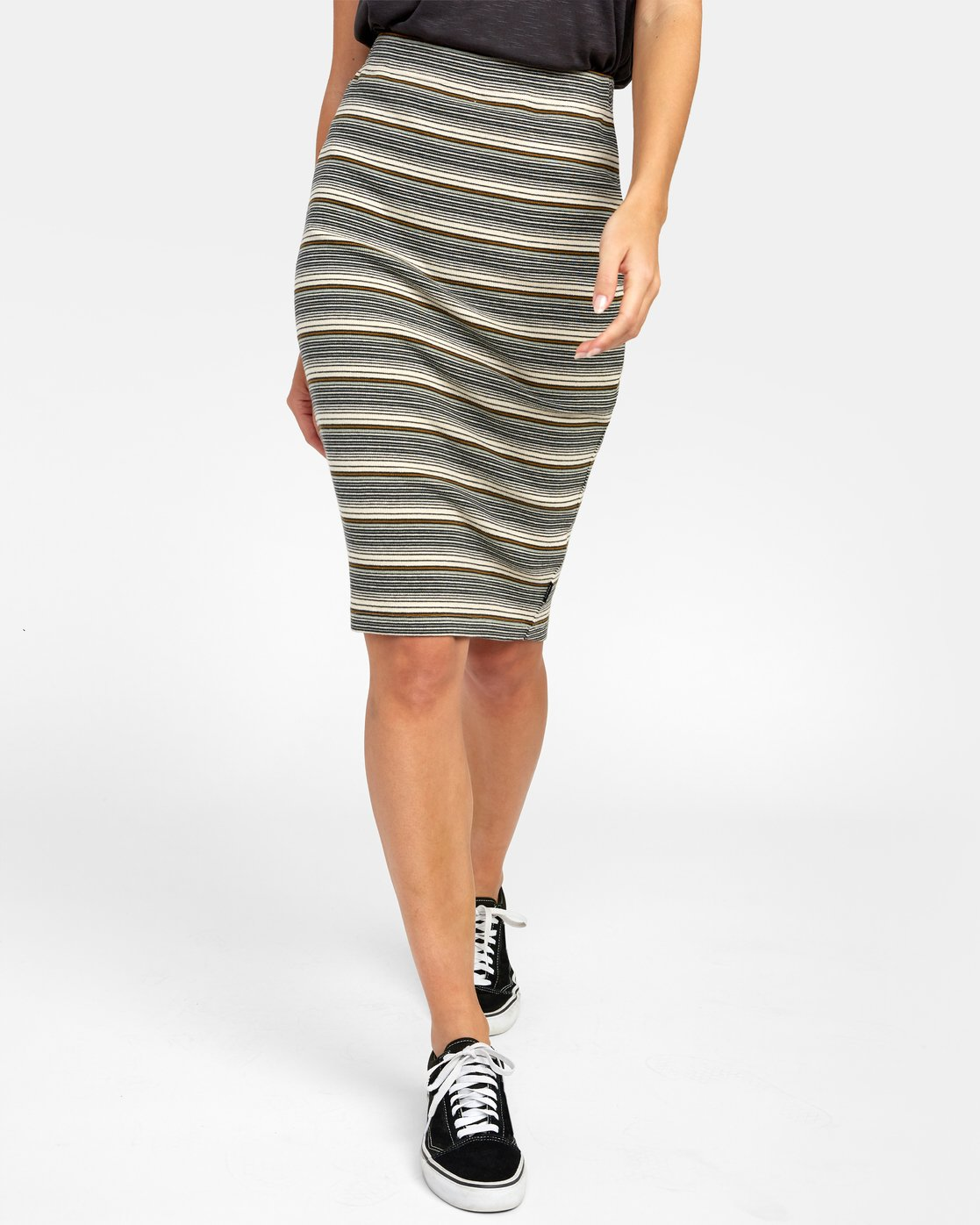 0 PICK ME UP KNIT SKIRT Brown WK021RPI RVCA