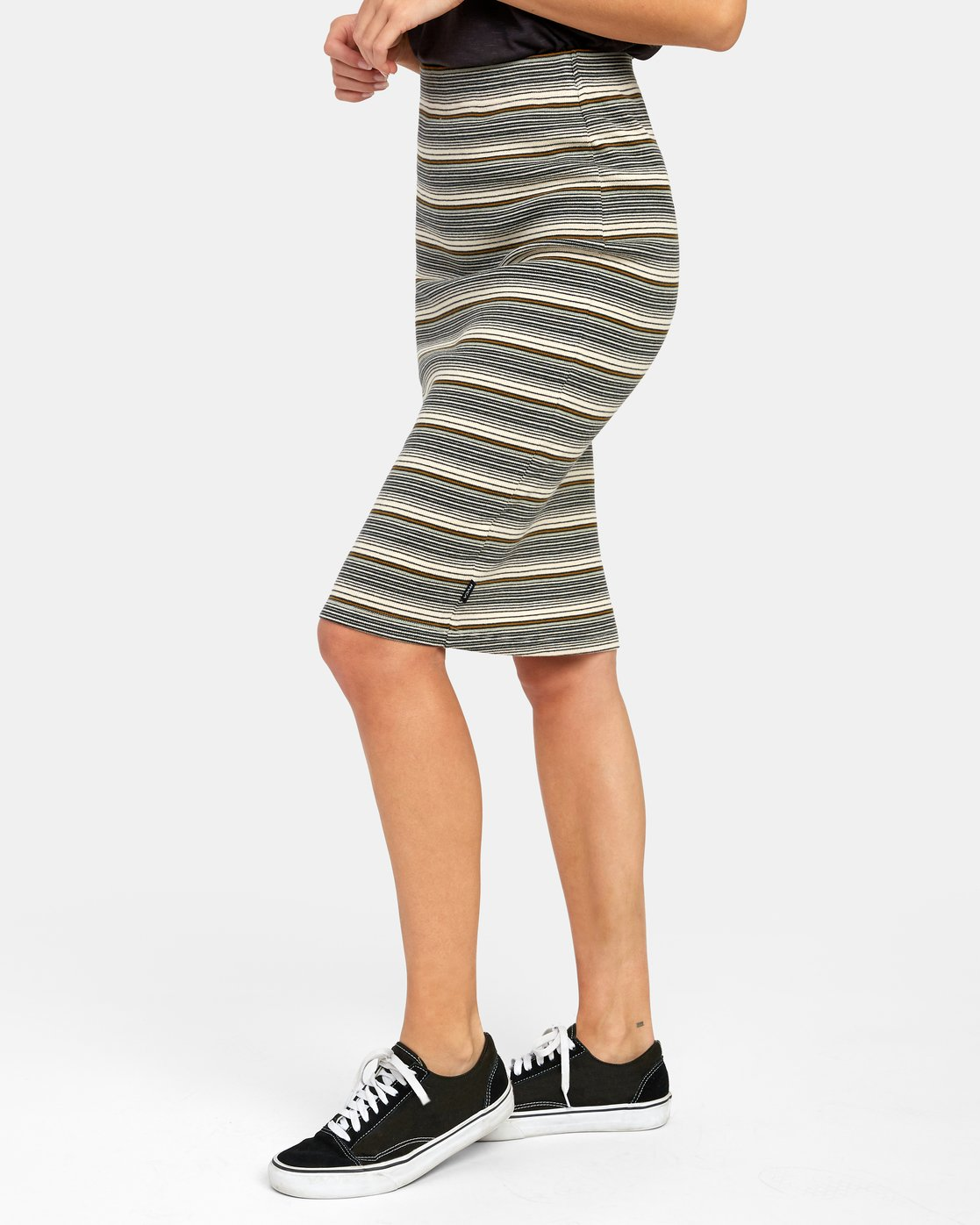 3 PICK ME UP KNIT SKIRT Brown WK021RPI RVCA