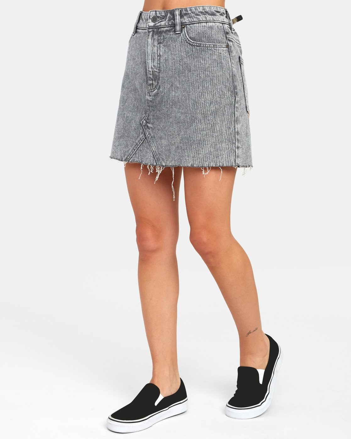 1 SIENA HIGH RISE DENIM SKIRT Multicolor WK02VRSI RVCA