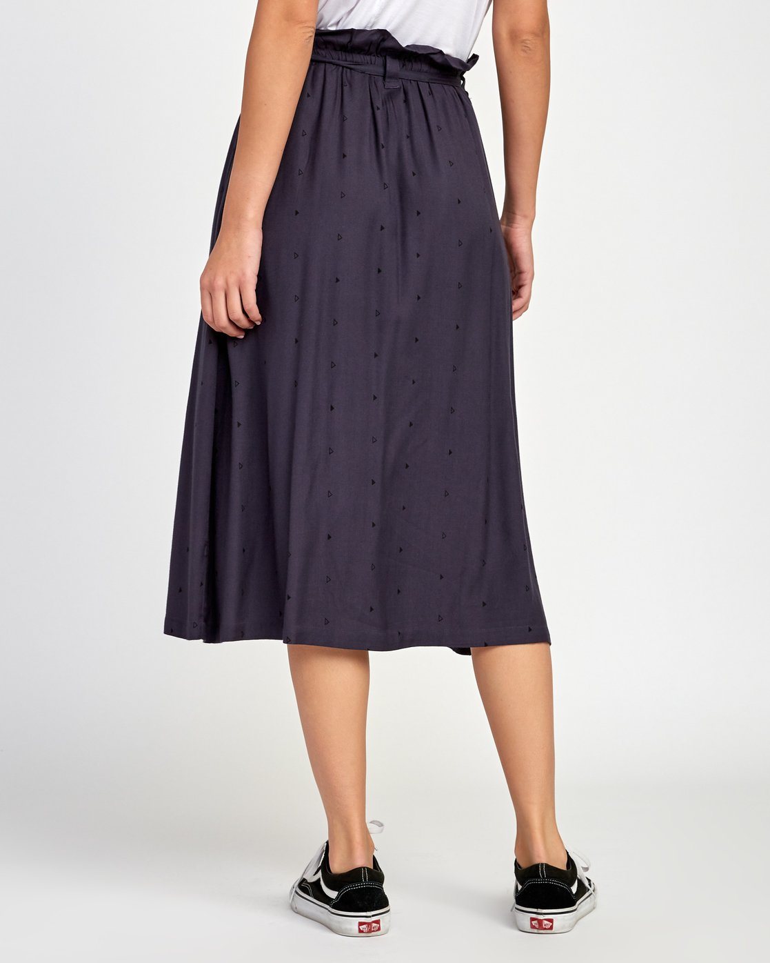 3 Sounded Midi Skirt Blue WK02VRSO RVCA