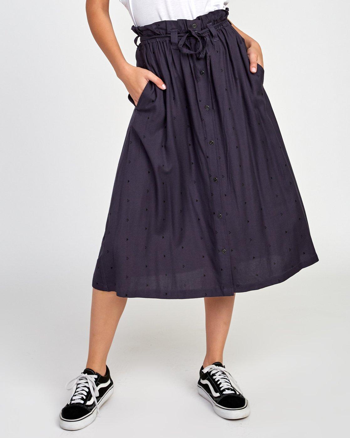 0 Sounded Midi Skirt Black WK02VRSO RVCA