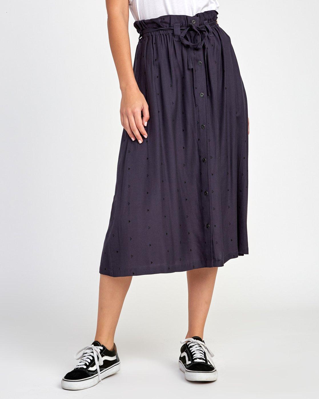 1 Sounded Midi Skirt Black WK02VRSO RVCA