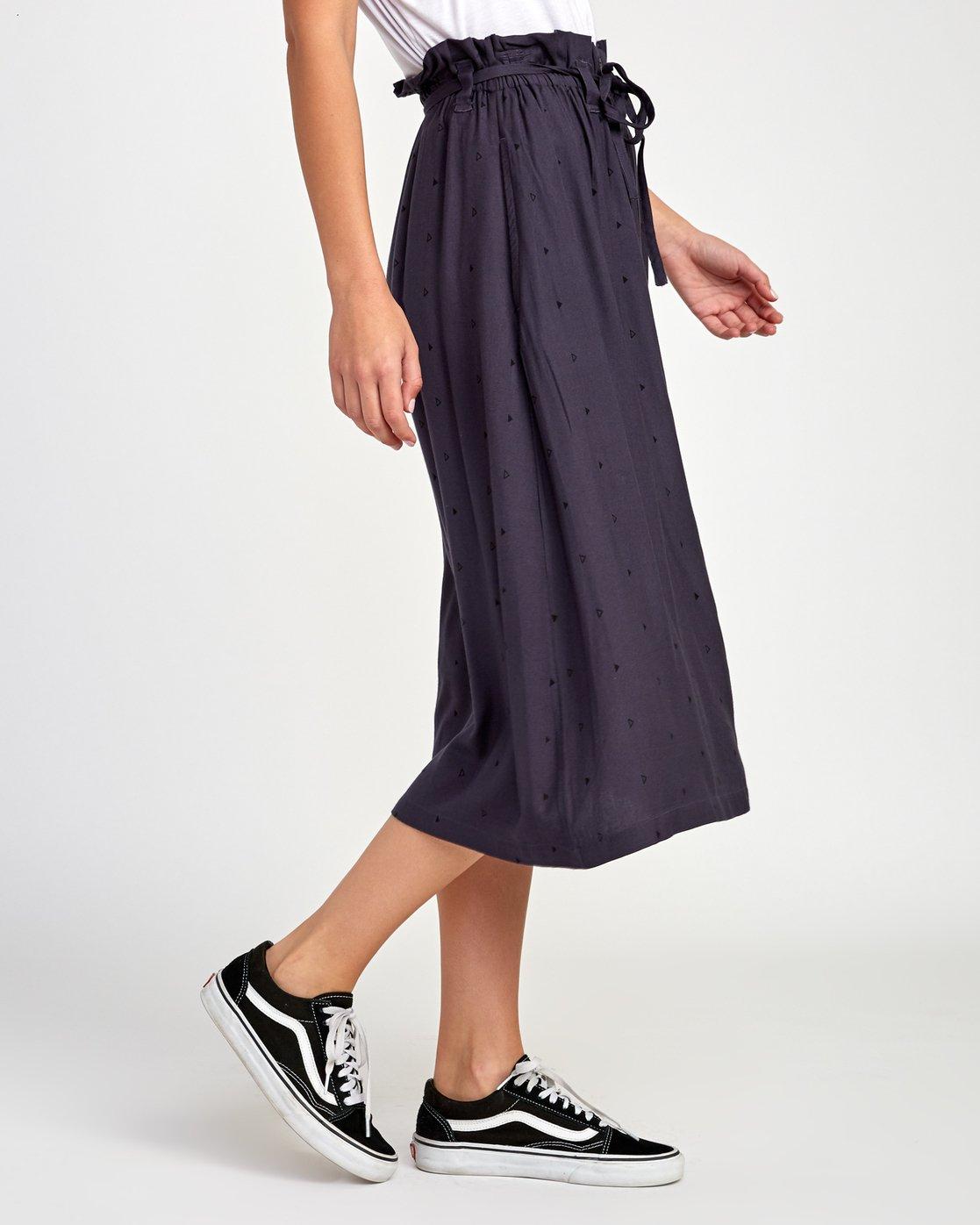 4 Sounded Midi Skirt Black WK02VRSO RVCA