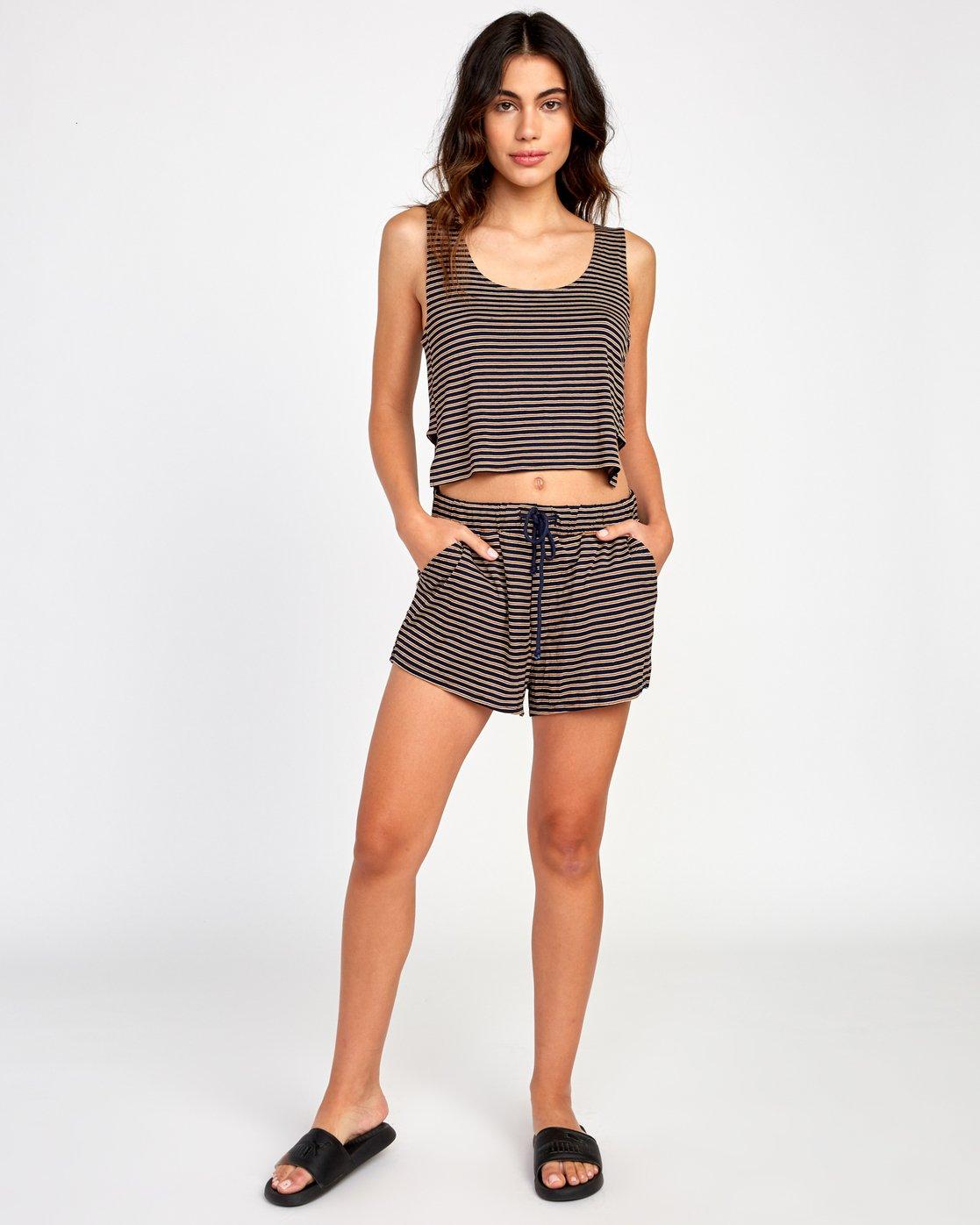 4 Starter Knit Tank Top Brown WL01VRST RVCA
