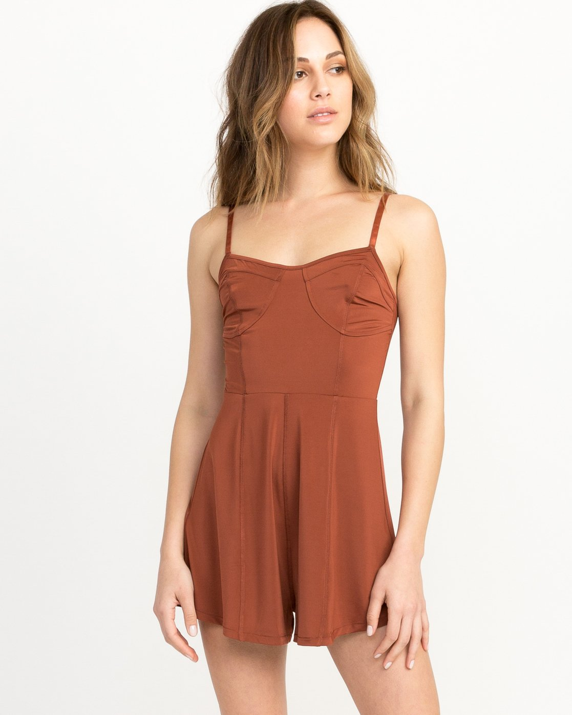 1 Bare Silky Lounge Romper Brown WL03QRBA RVCA