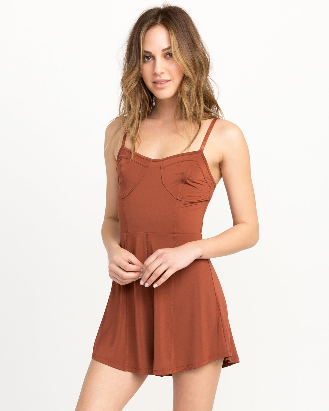 2 Bare Silky Lounge Romper Brown WL03QRBA RVCA