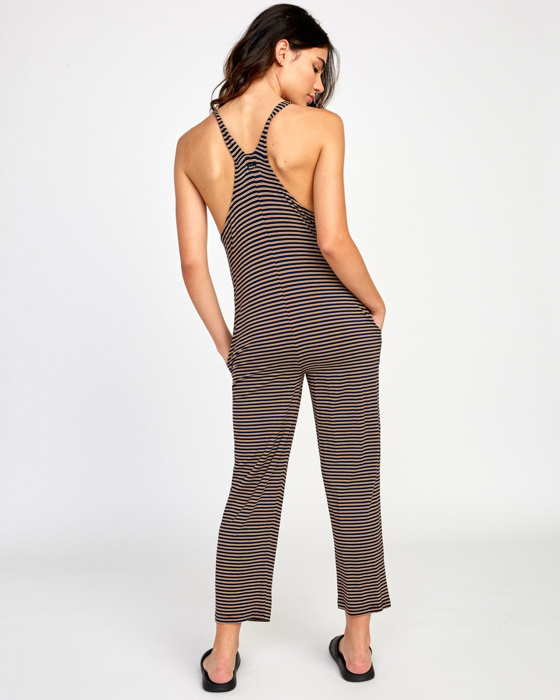 3 Jayden Knit Jumpsuit Brown WL03VRJA RVCA