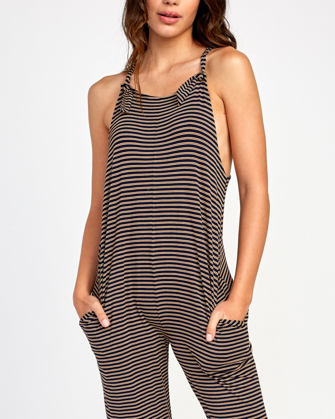 4 Jayden Knit Jumpsuit Brown WL03VRJA RVCA