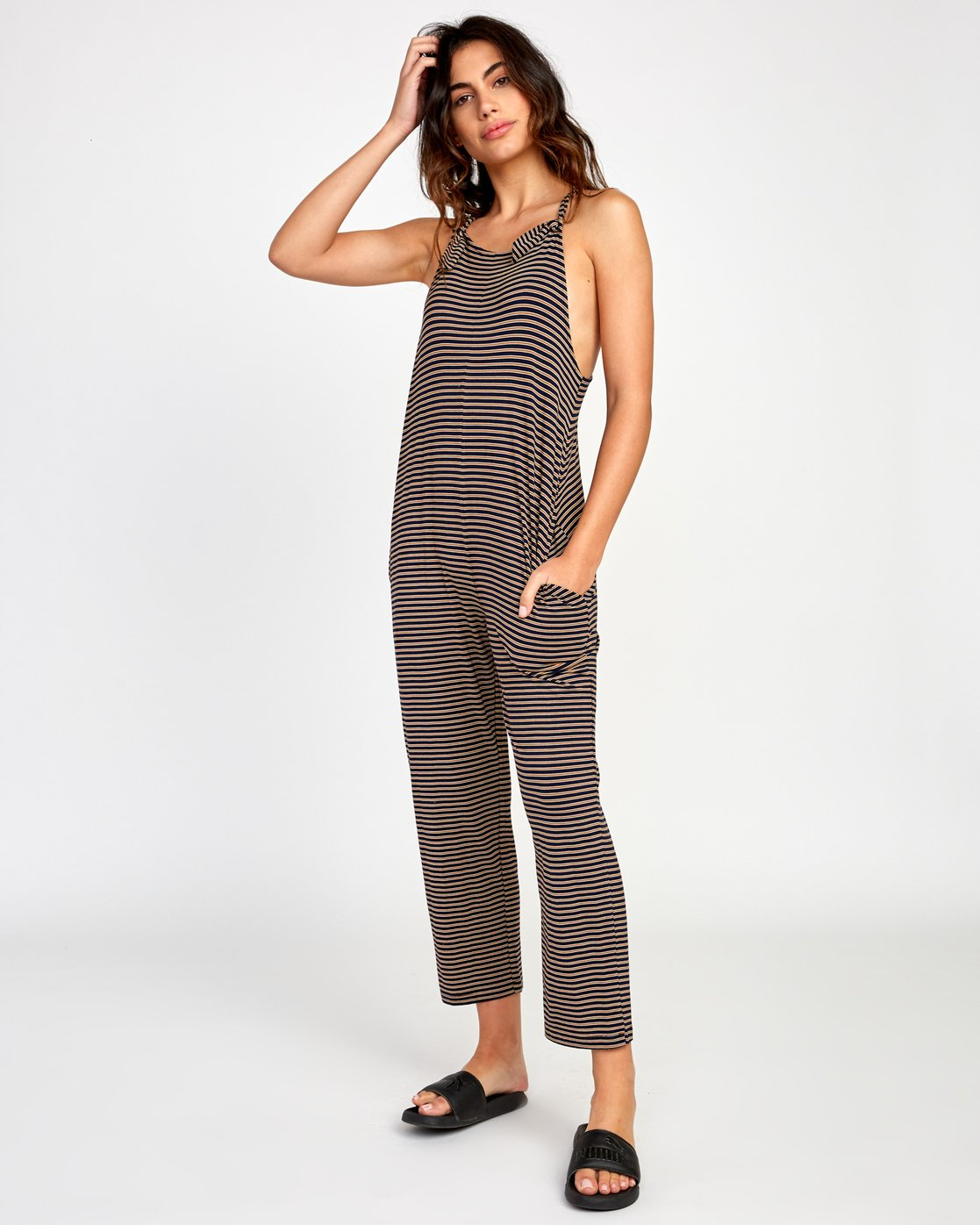 0 Jayden Knit Jumpsuit Brown WL03VRJA RVCA