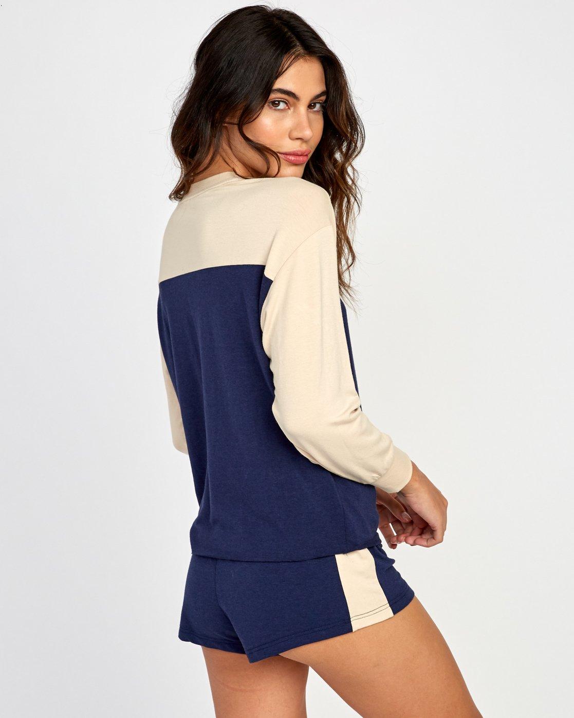 2 Sophmore Fleece Pullover Blue WL04VRSO RVCA