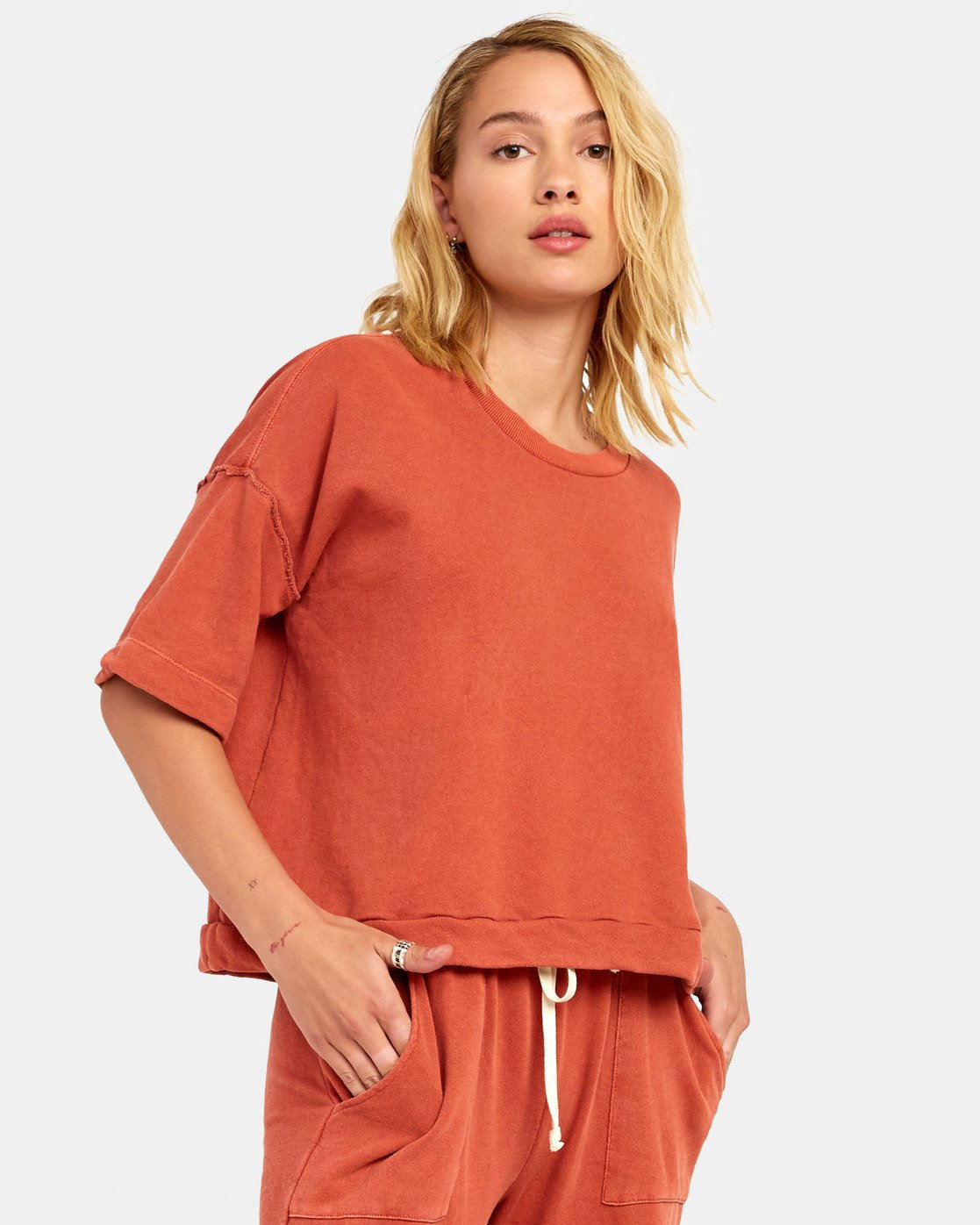 4 VEGAS PULLOVER TOP Orange WL061RVE RVCA