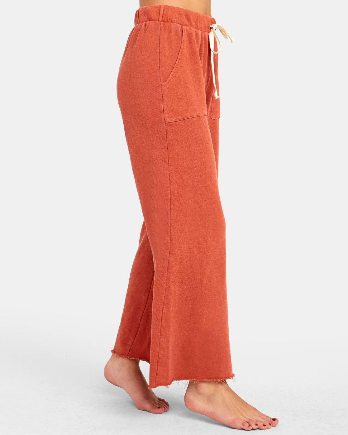1 PEPPER WIDE LEG FLEECE PANT Orange WL071RPE RVCA