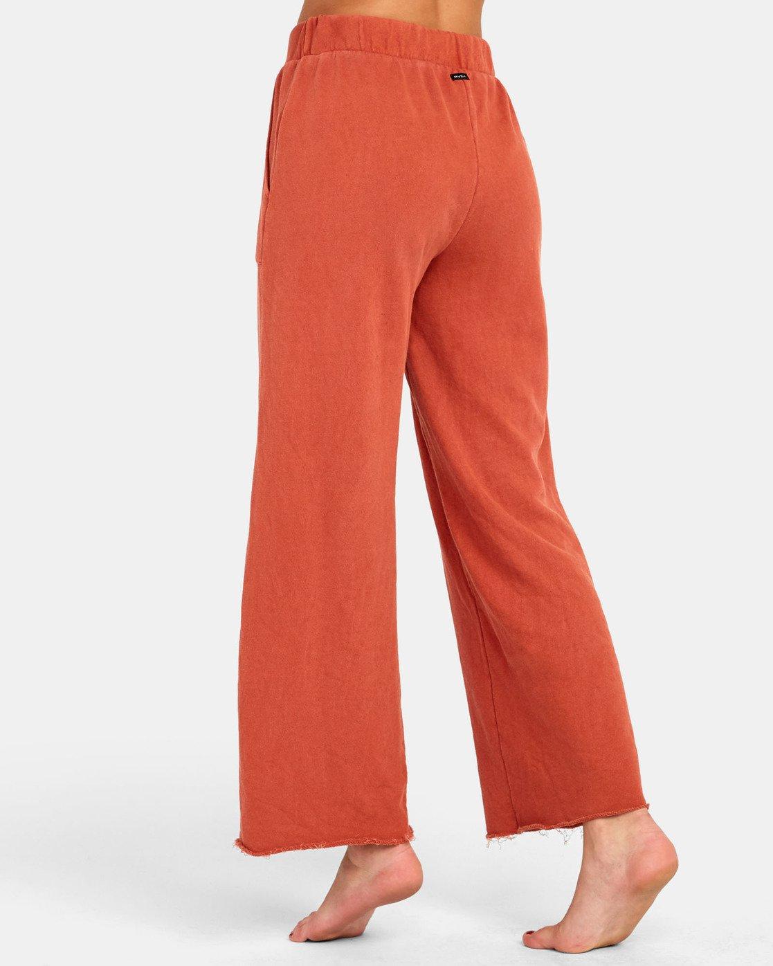4 PEPPER WIDE LEG FLEECE PANT Orange WL071RPE RVCA