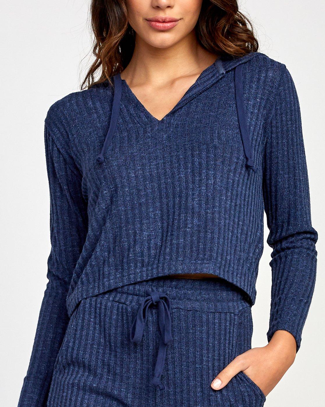 3 Mesa Knit Pullover Top Blue WL09VRME RVCA