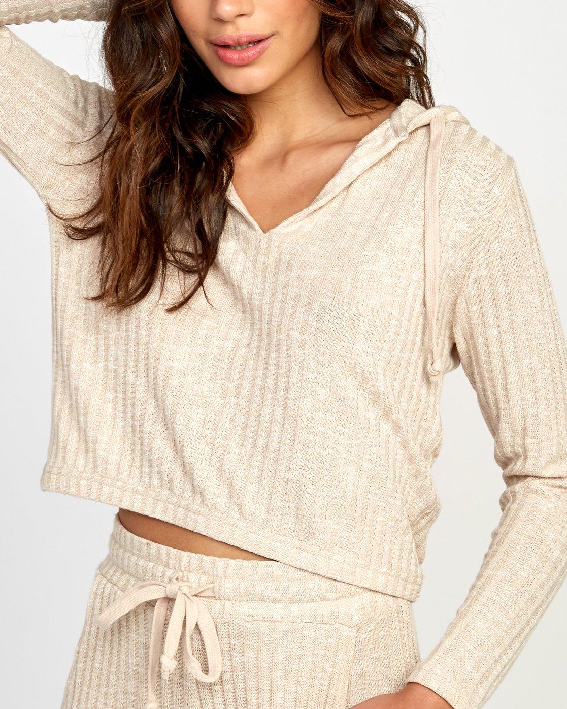 4 Mesa Knit Pullover Top Beige WL09VRME RVCA
