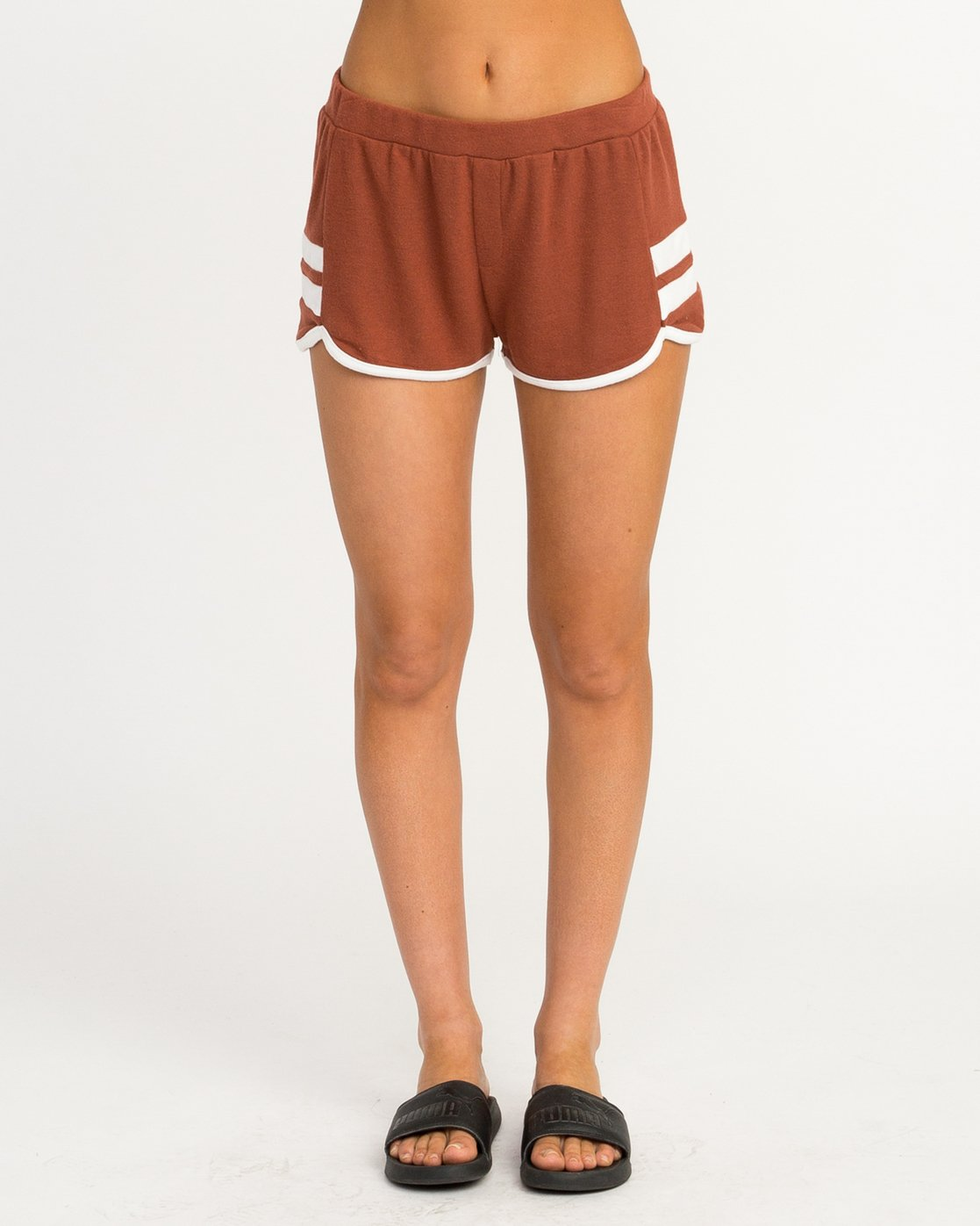 0 Julep Fleece Soft Short Brown WL12QRJU RVCA